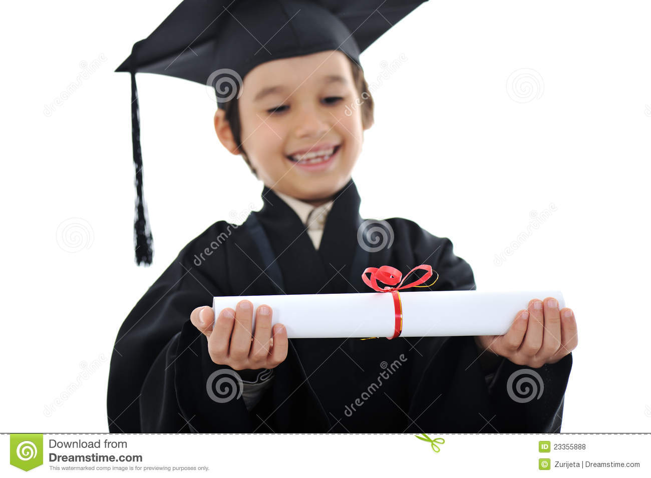 diploma graduating little student kid stock photo image  royalty stock photo