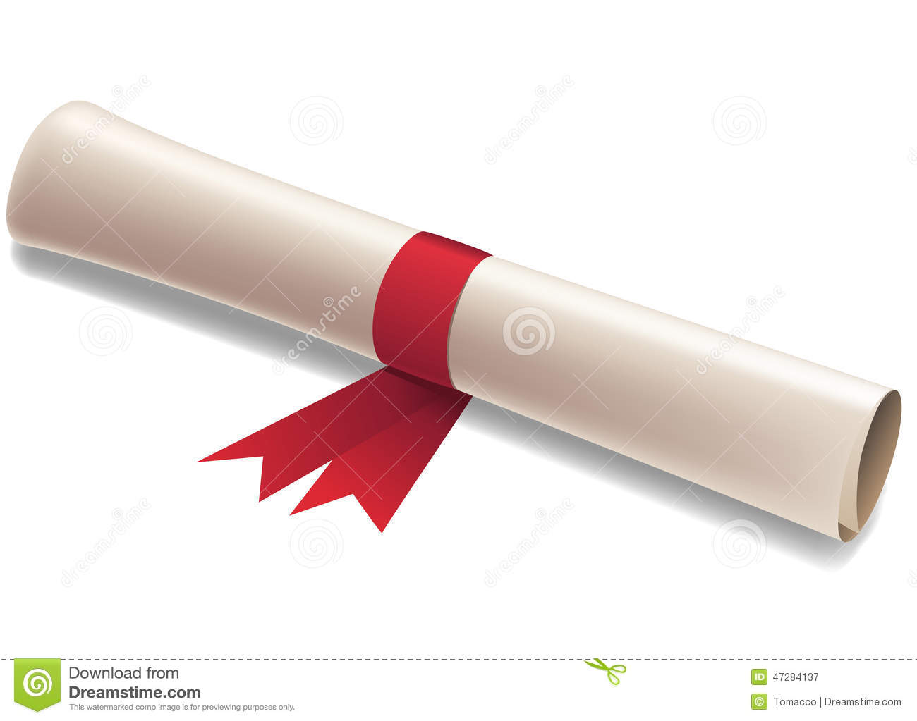 Diploma Graduation Award Illustration Stock Illustration - Image ...