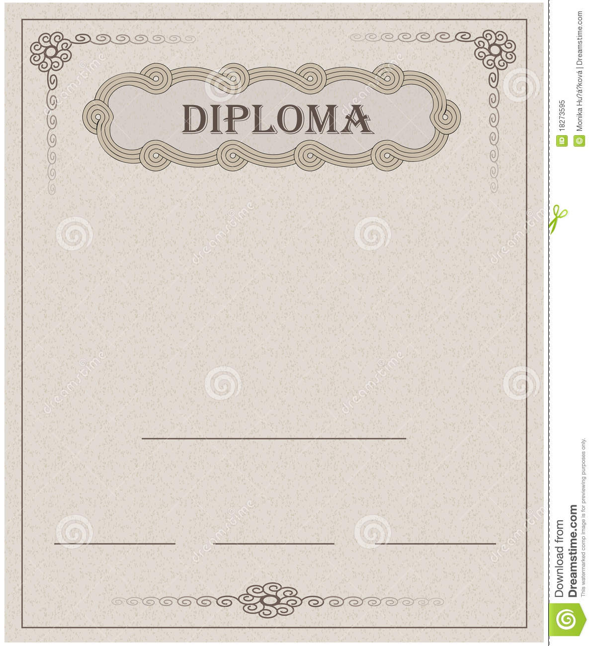 Diploma Paper Template Card Royalty Free Stock Photo ...