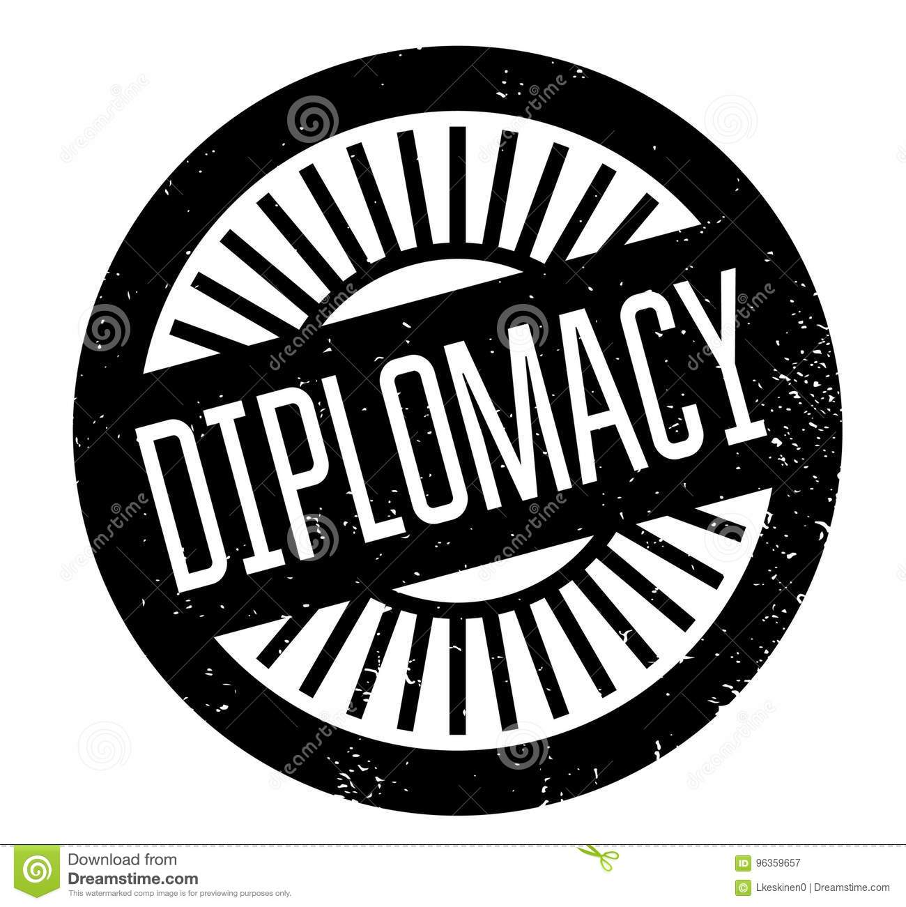16dd0629a714 Diplomacy rubber stamp. Grunge design with dust scratches. Effects can be  easily removed for a clean