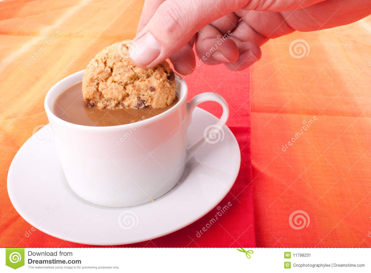 Dipping Biscuit Stock Image - Image: 11798231
