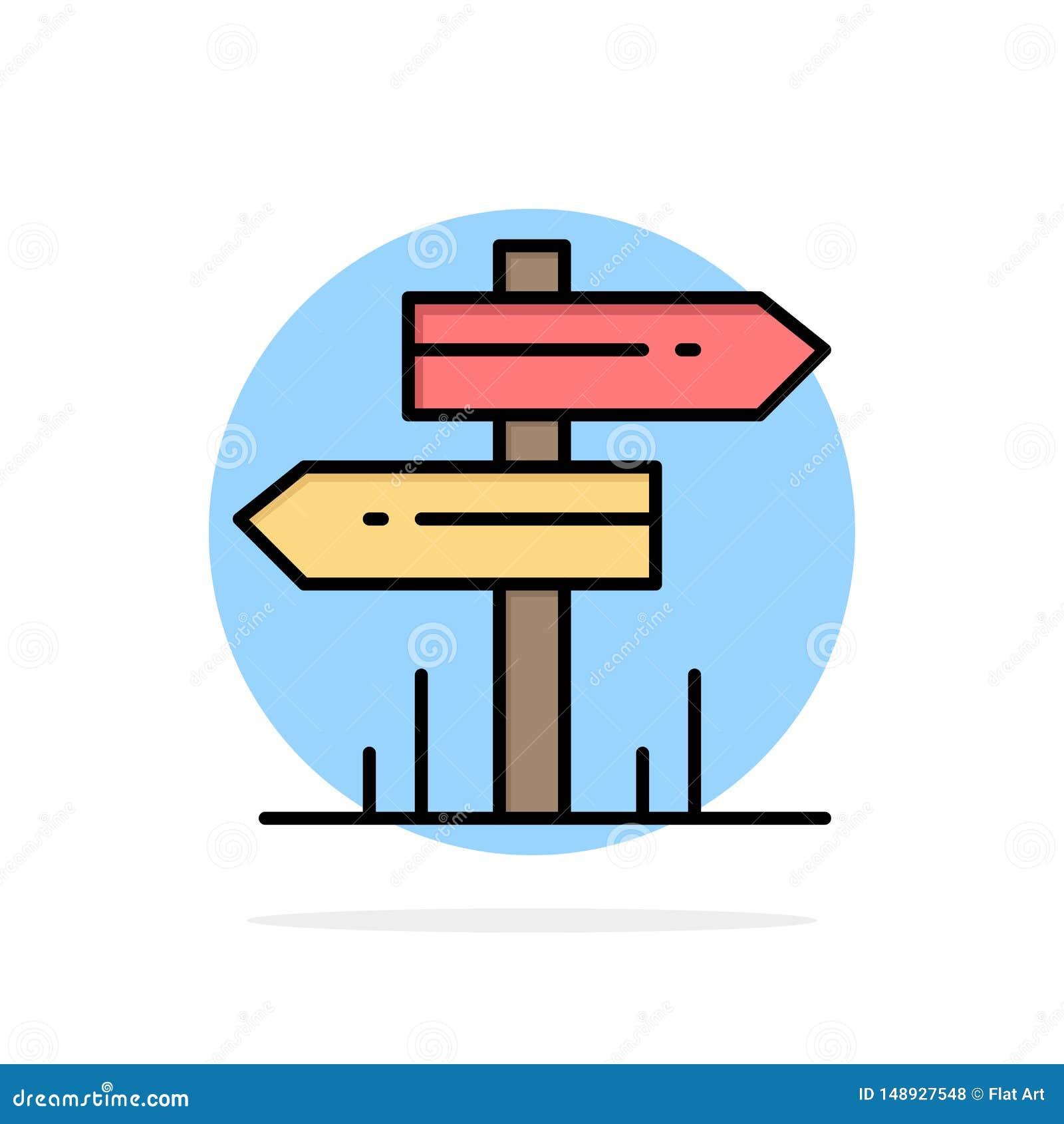 Dirección, hotel, motel, icono plano del color de fondo abstracto del círculo del sitio