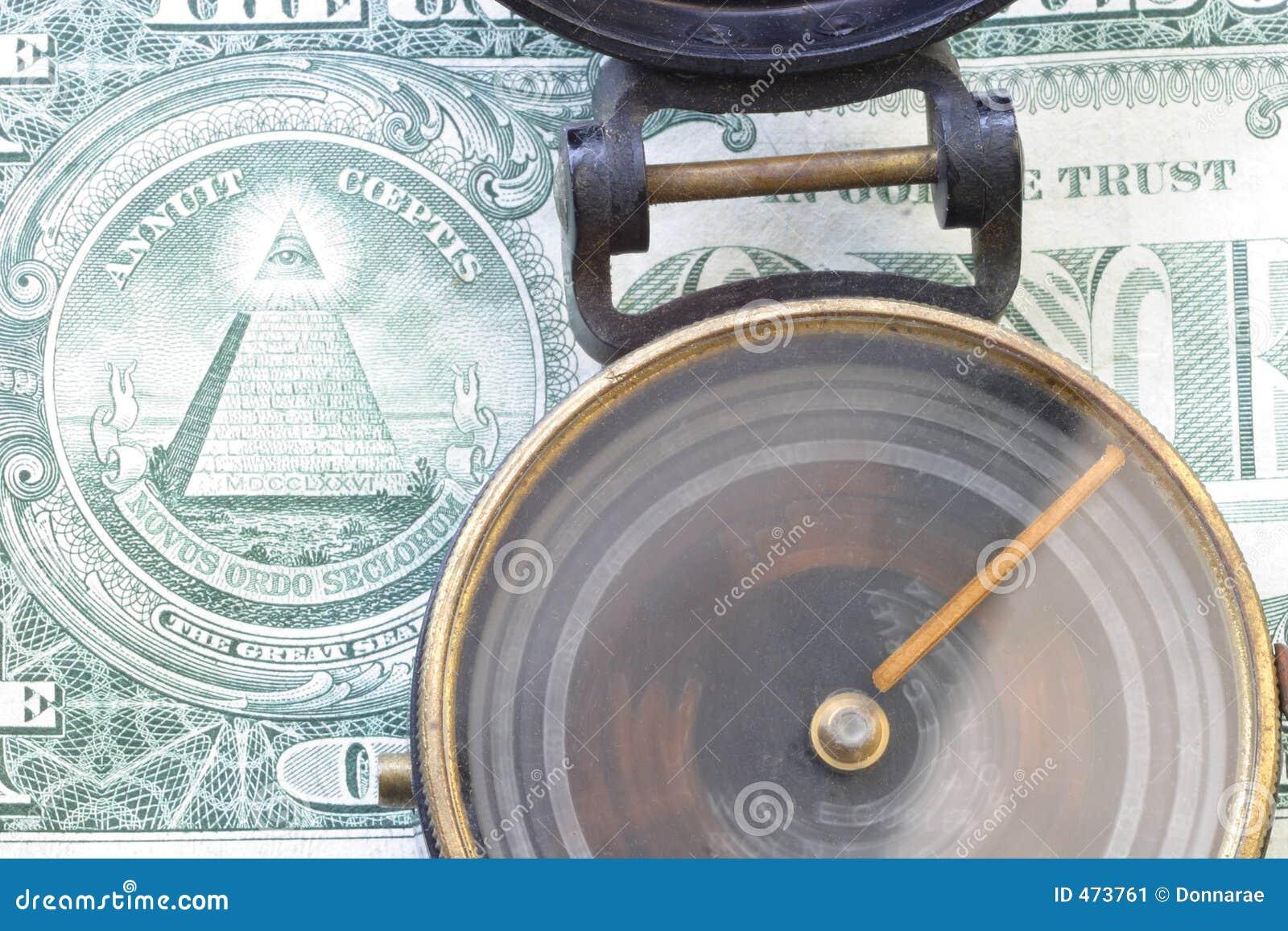 Dirección y compás de giro 3485 de $ dólar americano, una cuenta de dólar
