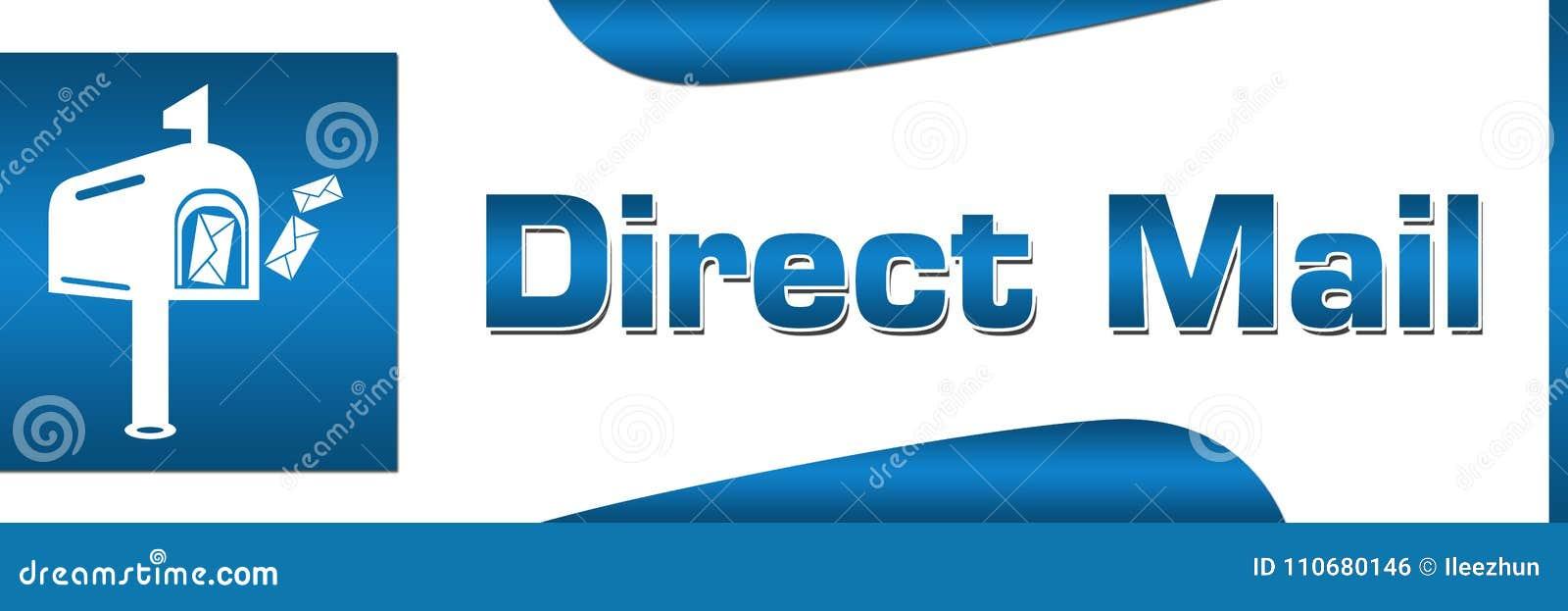 Direct mail Blauwe Vierkante Horizontaal
