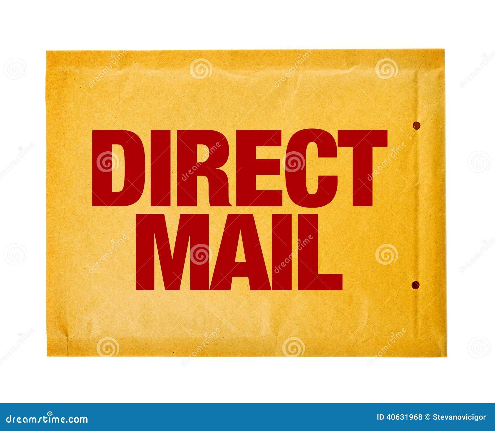 direct mail postal envelope on white background royalty free stock image. Black Bedroom Furniture Sets. Home Design Ideas