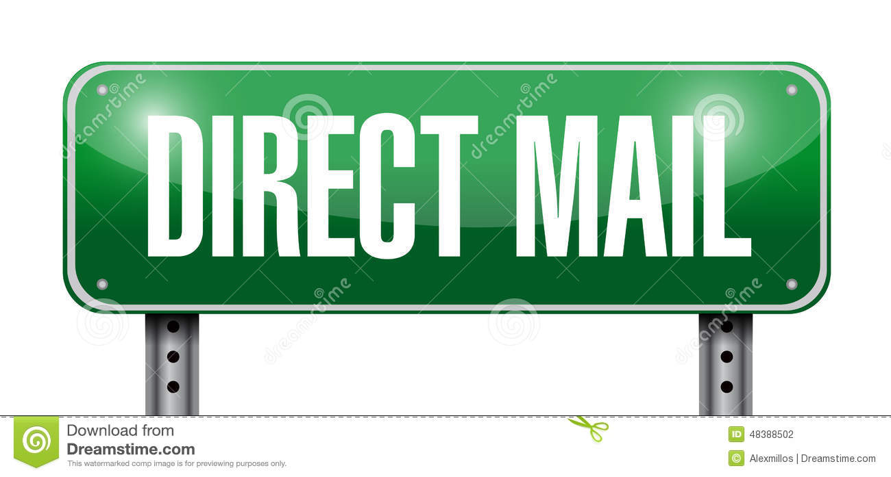 Direct mail sign illustration design stock illustration for Direct from the designers