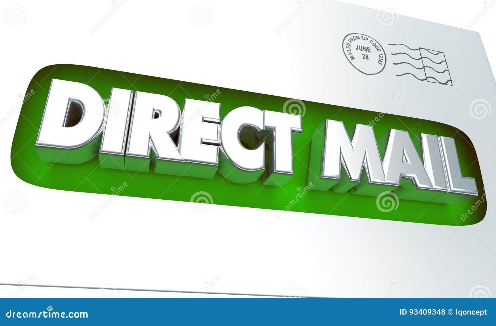 Direct mailenvelop Reclame Marketing Campagne 3d Illustrat