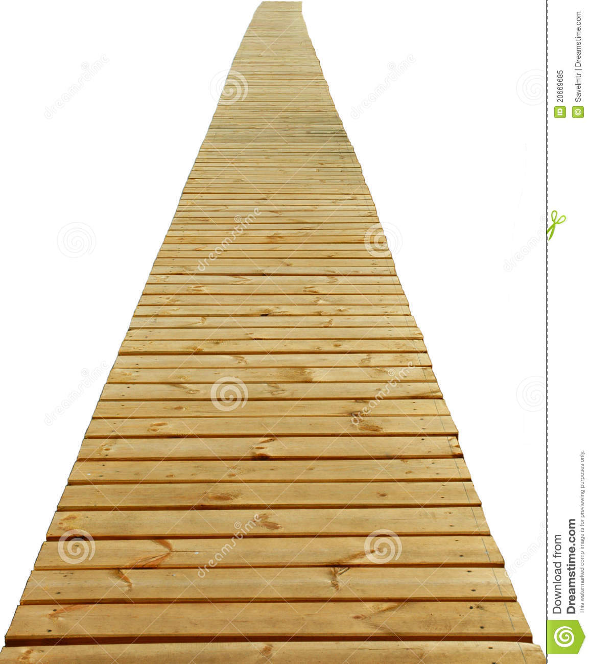 Direct wood path isolated