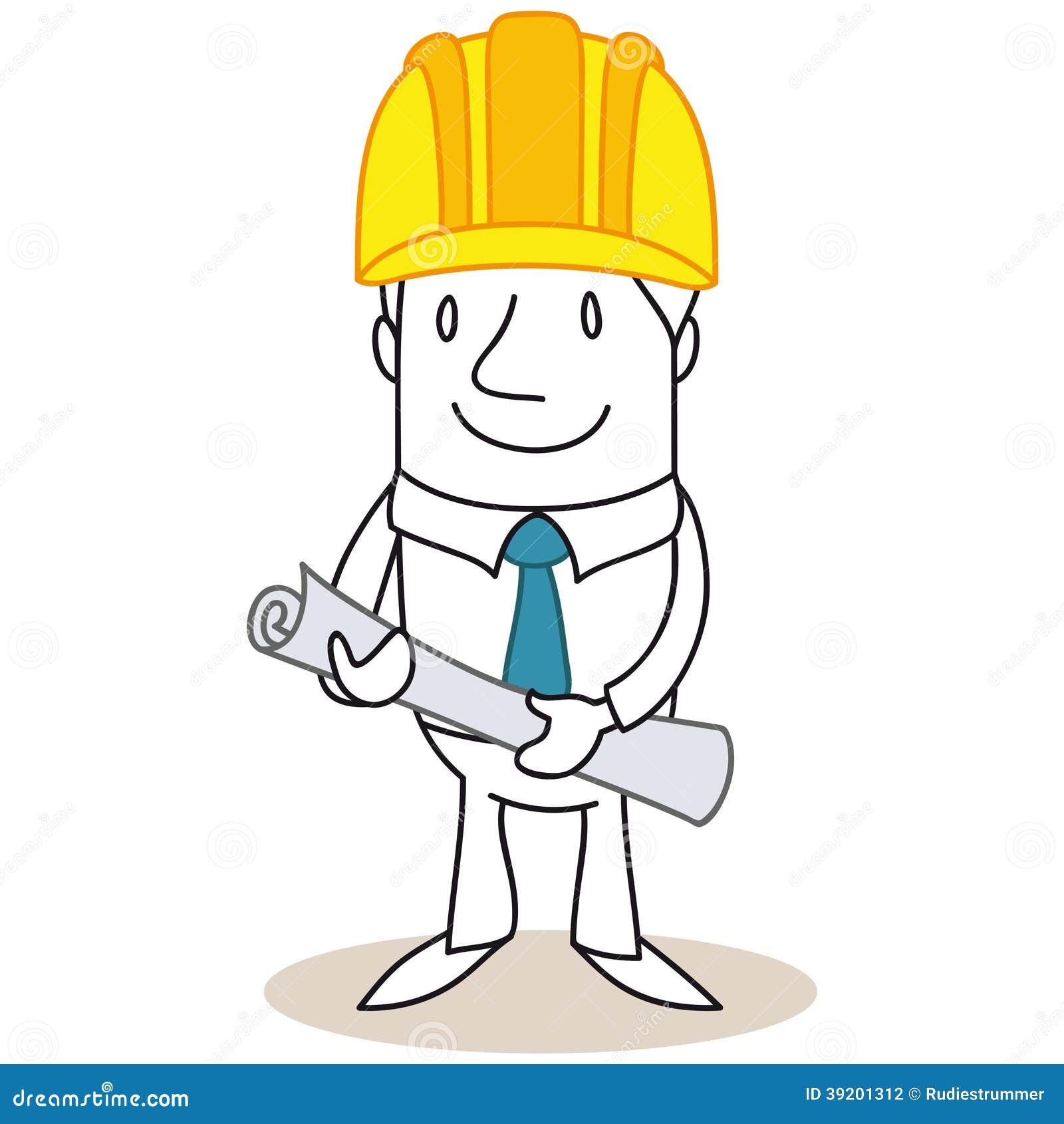 Directeur de construction d 39 architecte de bande dessin e - Un architecte ...