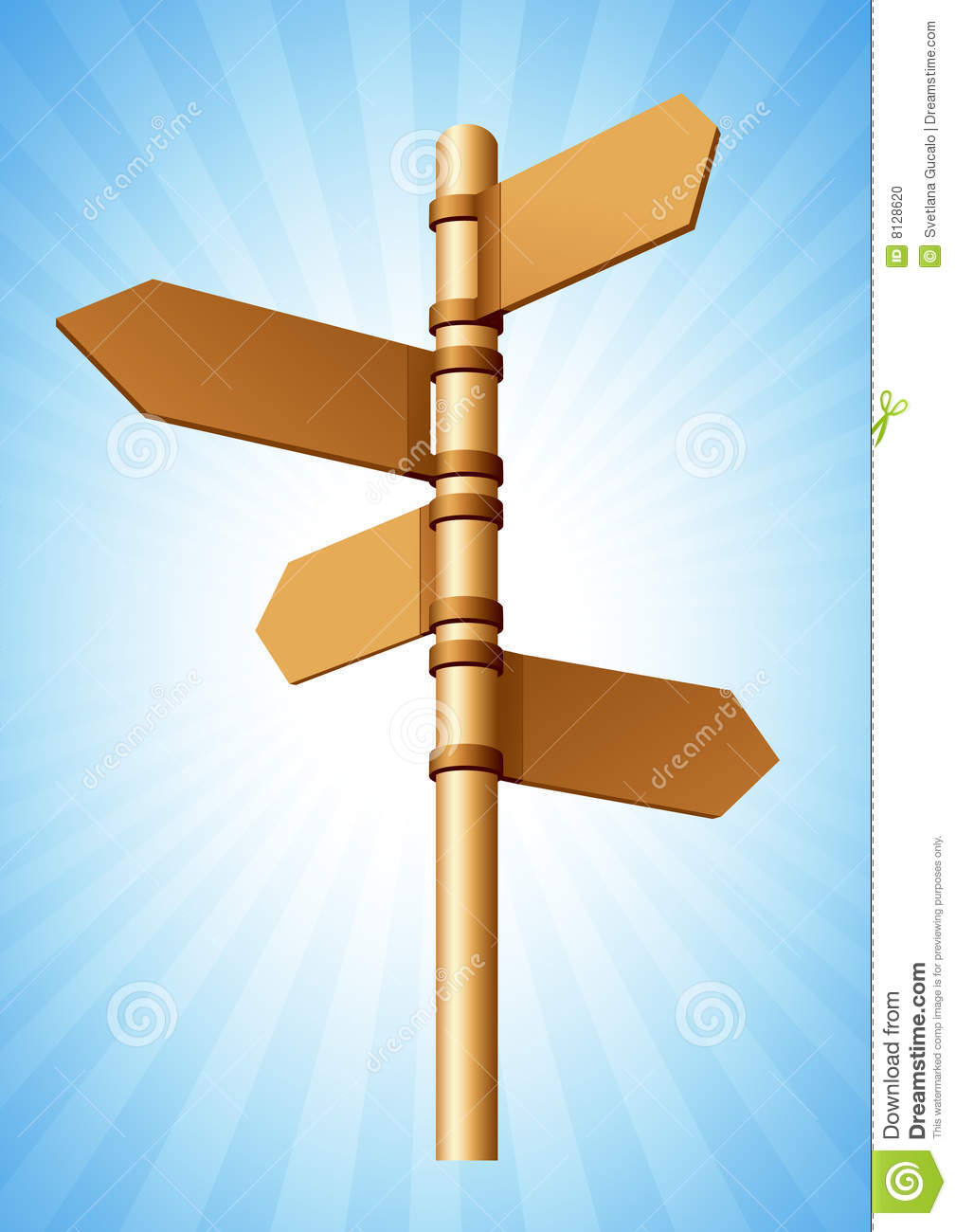 Direction Sign Stock Photo Image 8128620