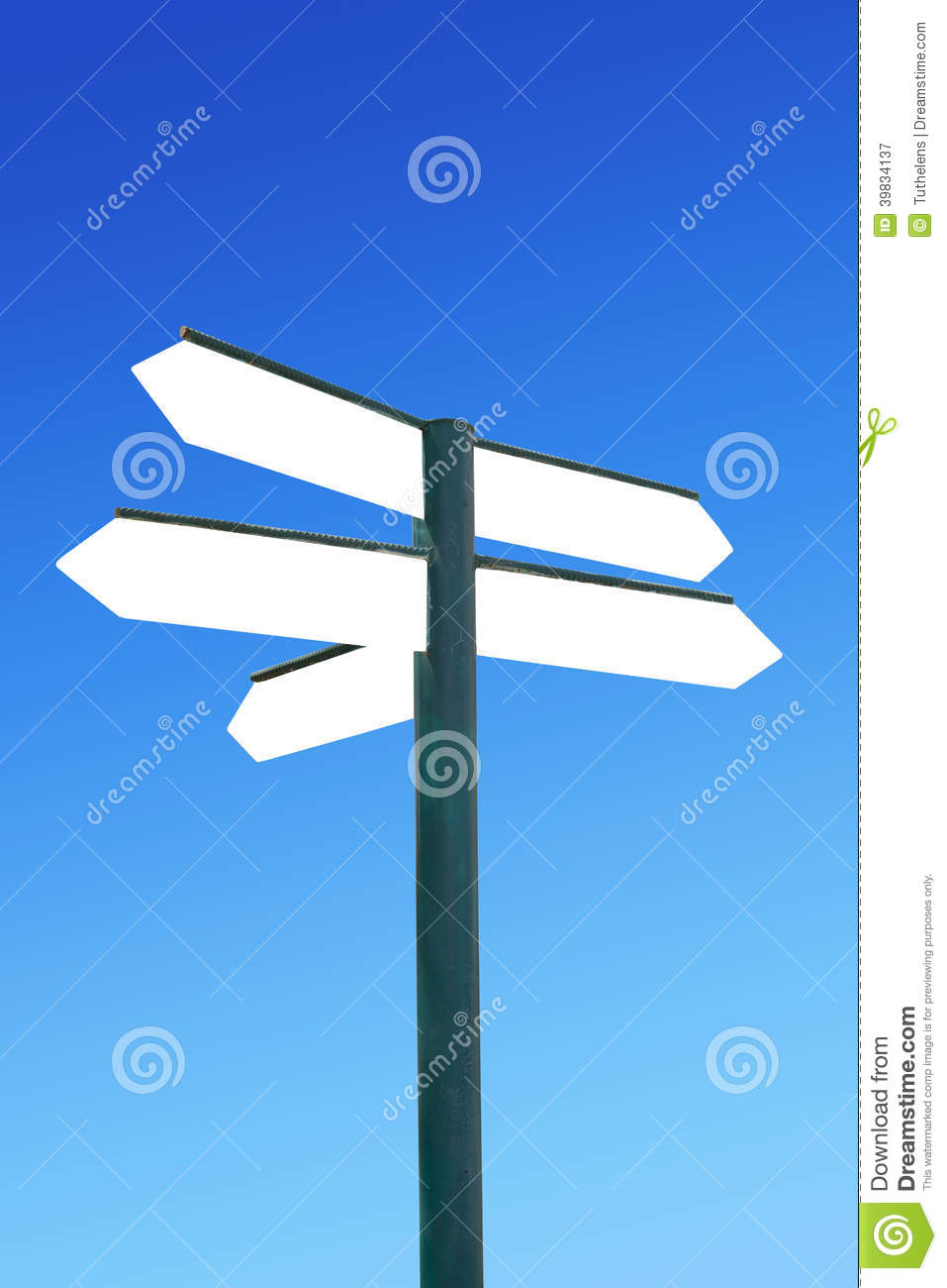 direction signpost with blank arrows stock image image of arrow