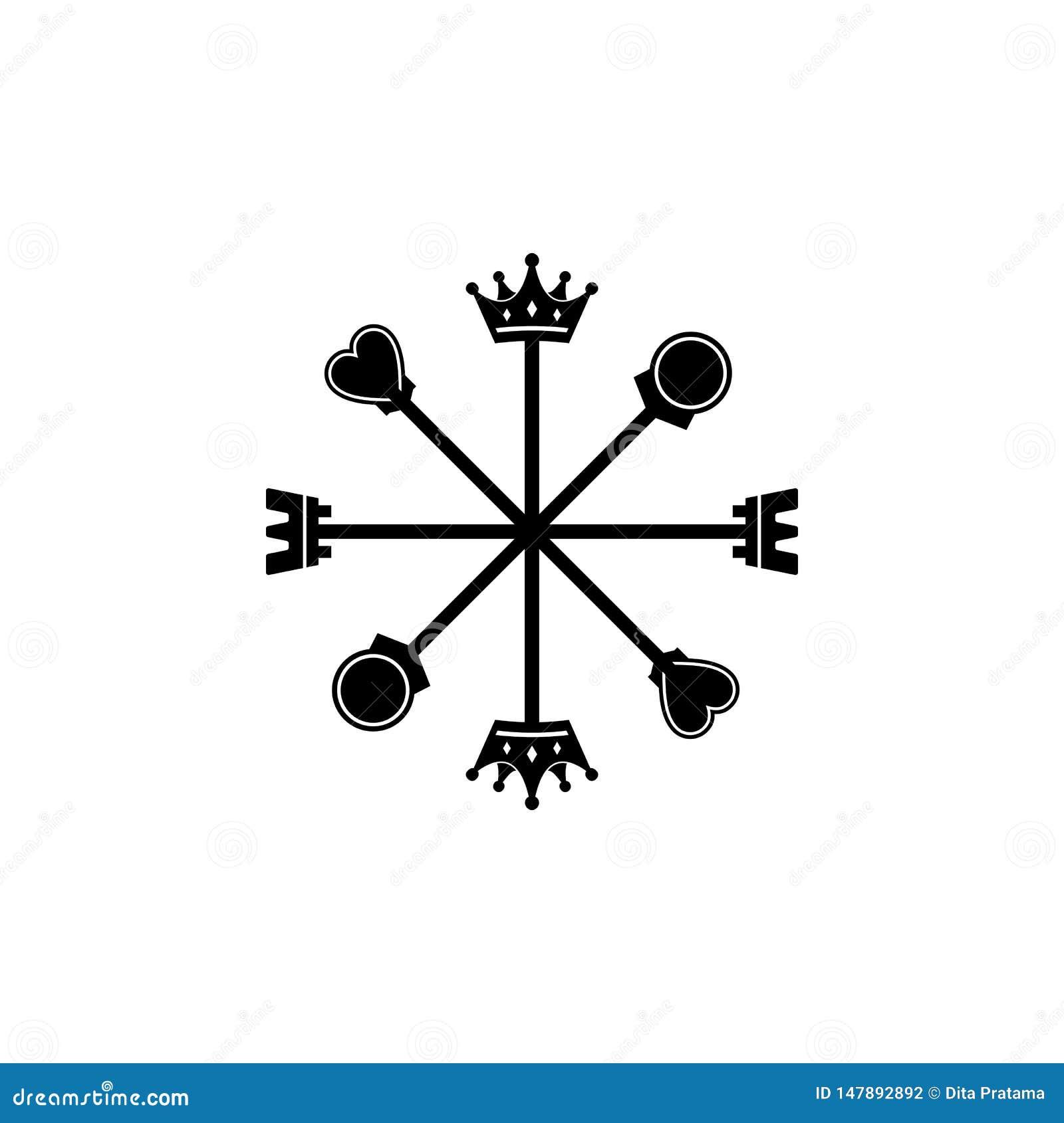 8 directions de logo de boussole d ?checs
