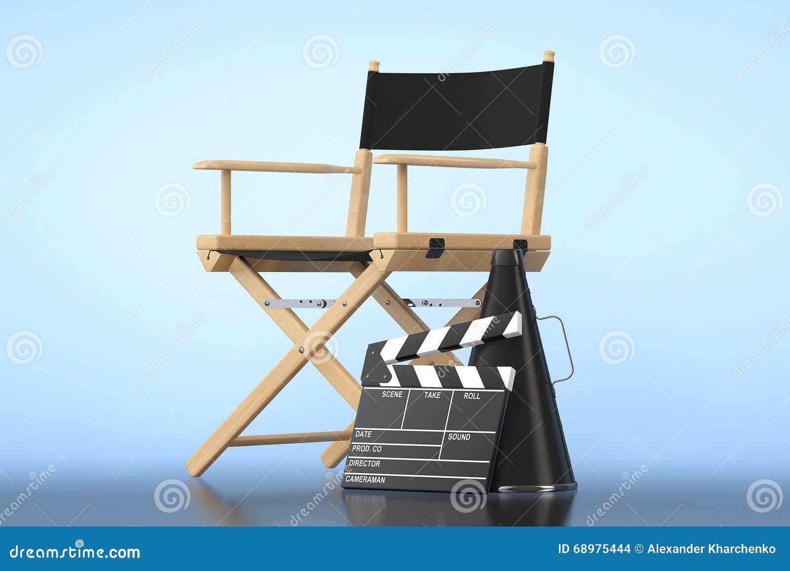 Director Chair, chapaleta de la película y megáfono