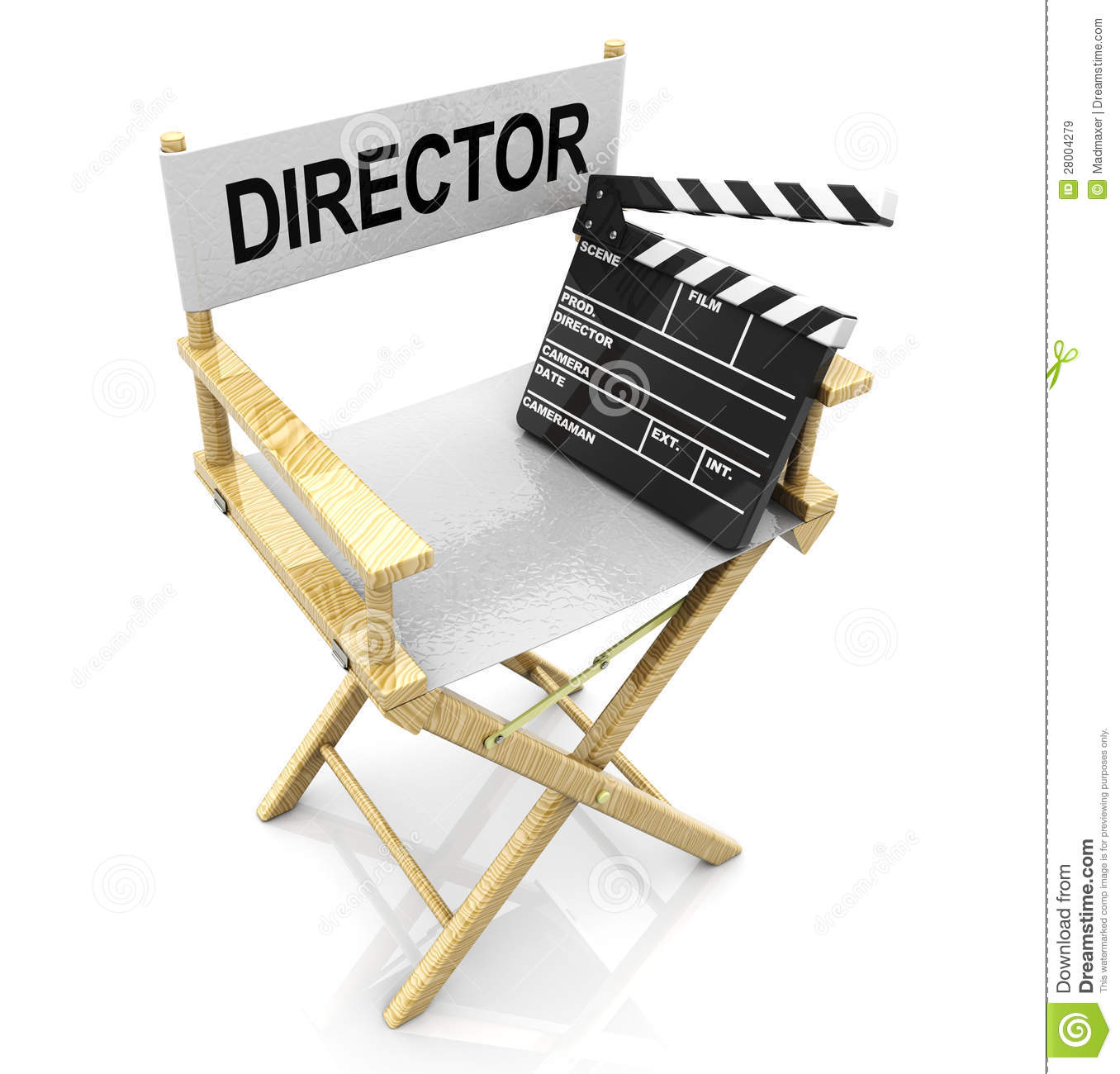 Director Chair And Clapboard Stock Illustration Image