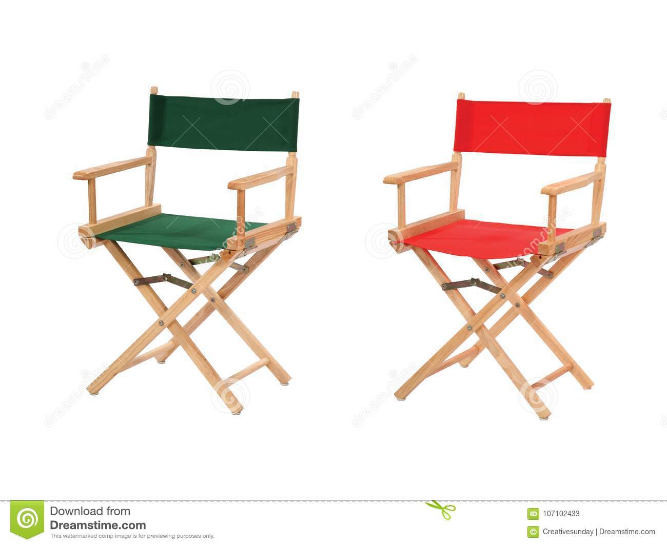 Director chairs isolated
