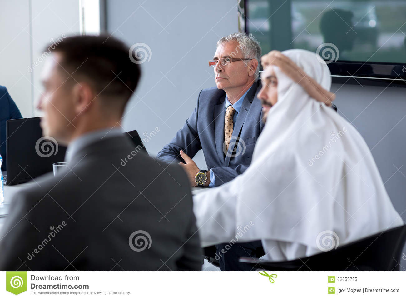 Director hold meeting