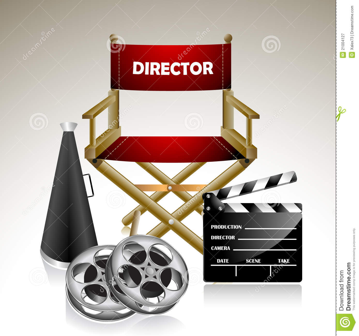 Director S Chair Royalty Free Stock Photography Image