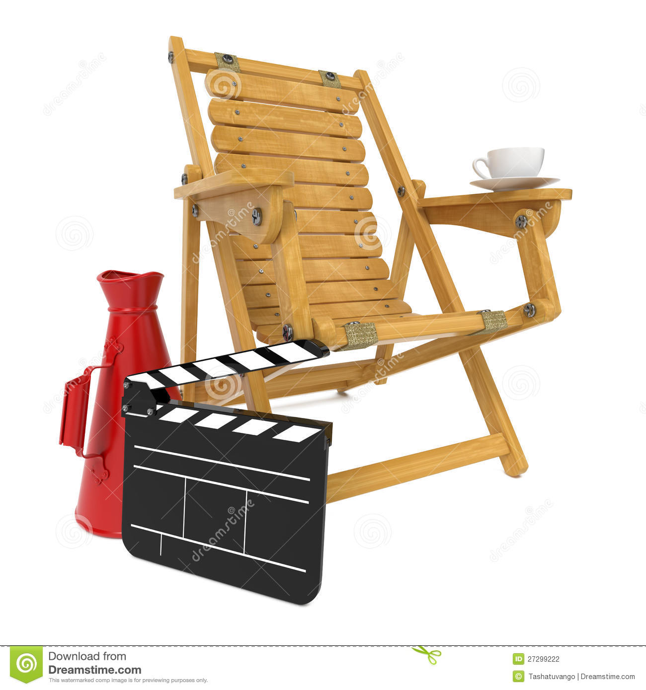 Director 39 S Chair With Clap Board And Megaphone Stock Photography Image