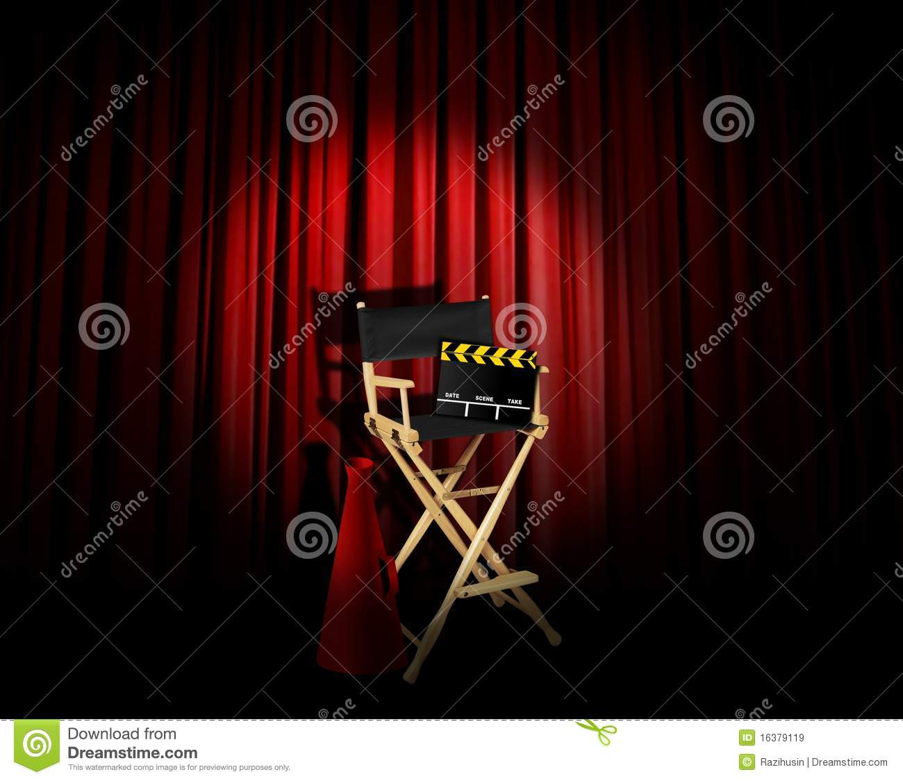 Directors Spotlight Royalty Free Stock Images Image