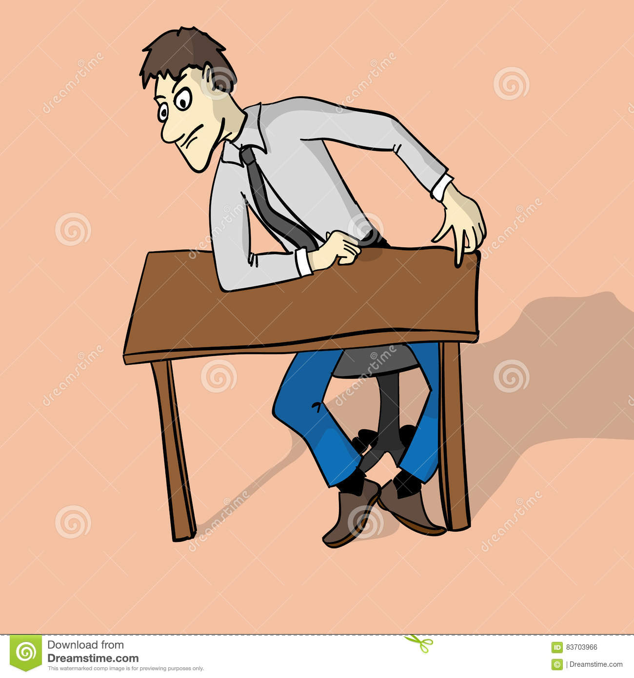 Director Of The Table Vector Stock Vector