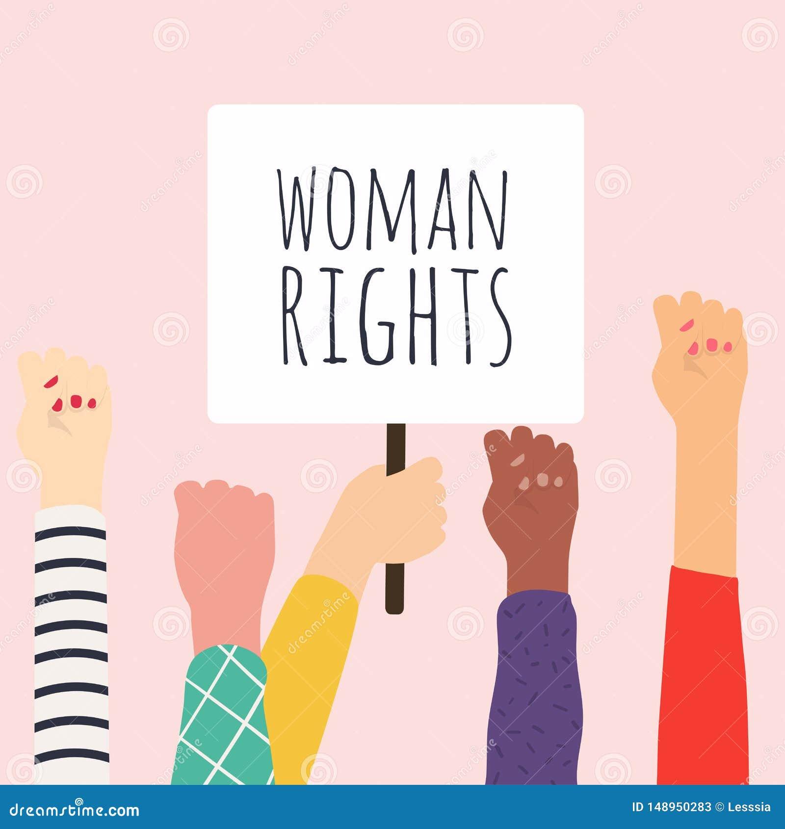 Direito da mulher E Ilustra??o do vetor
