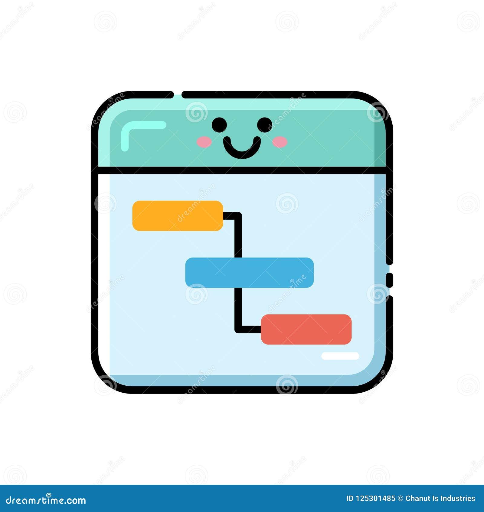 Direkt färgsymbol för flödesdiagram