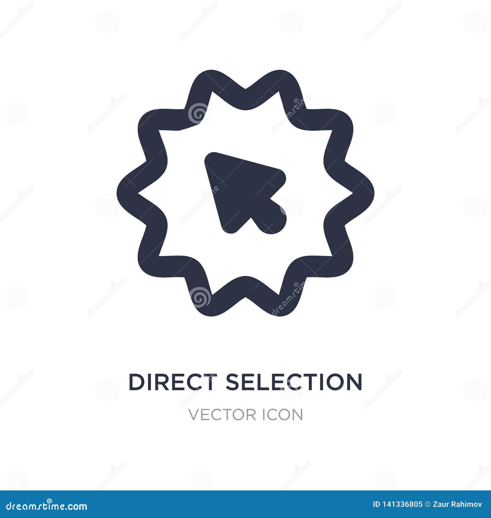 Direkt valsymbol på vit bakgrund Enkel beståndsdelillustration från UI-begrepp