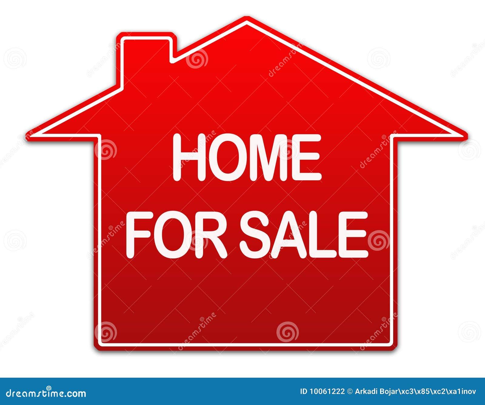 Diriga per il segno del bene immobile di vendita