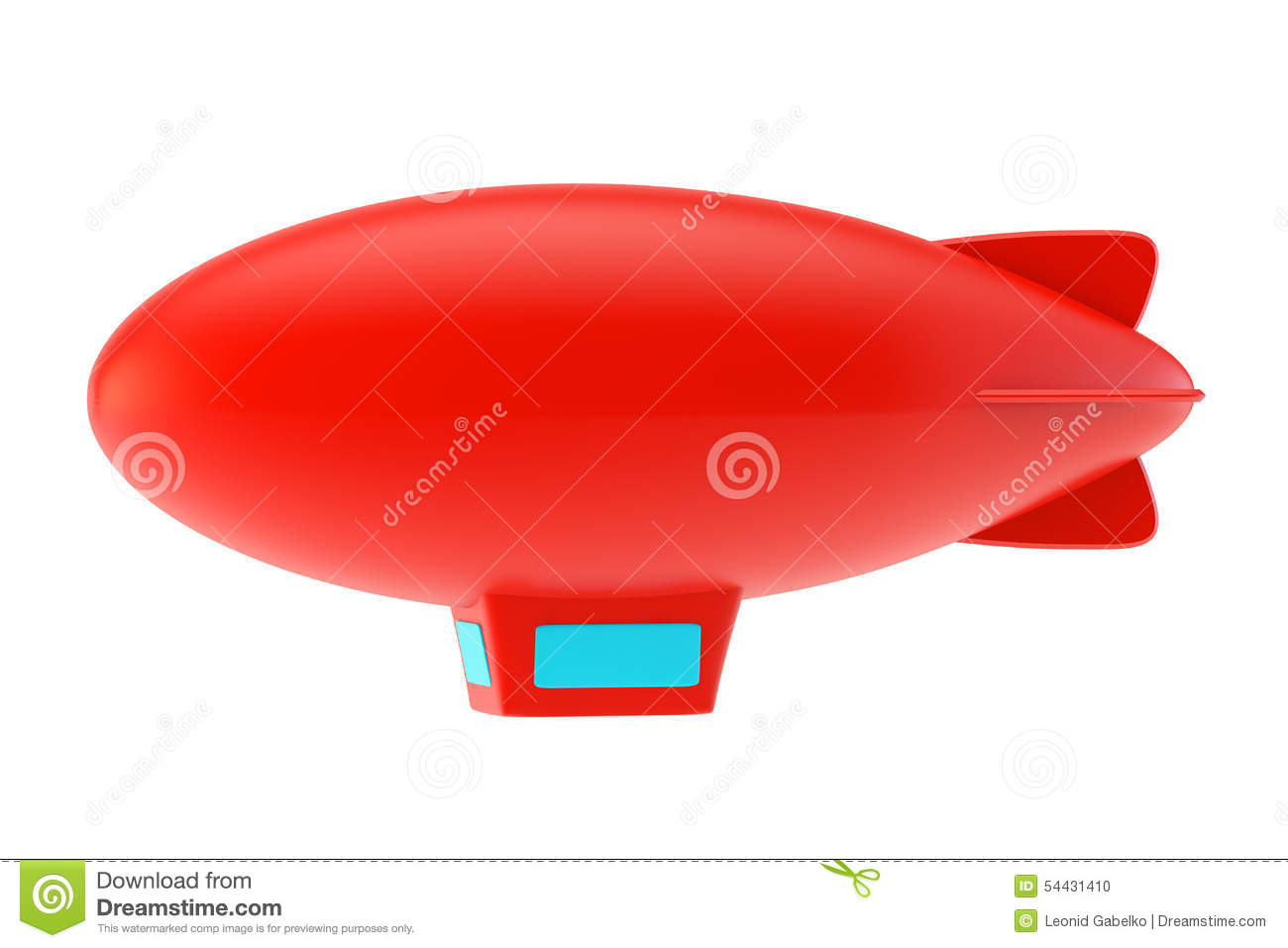 ballon dirigeable rouge