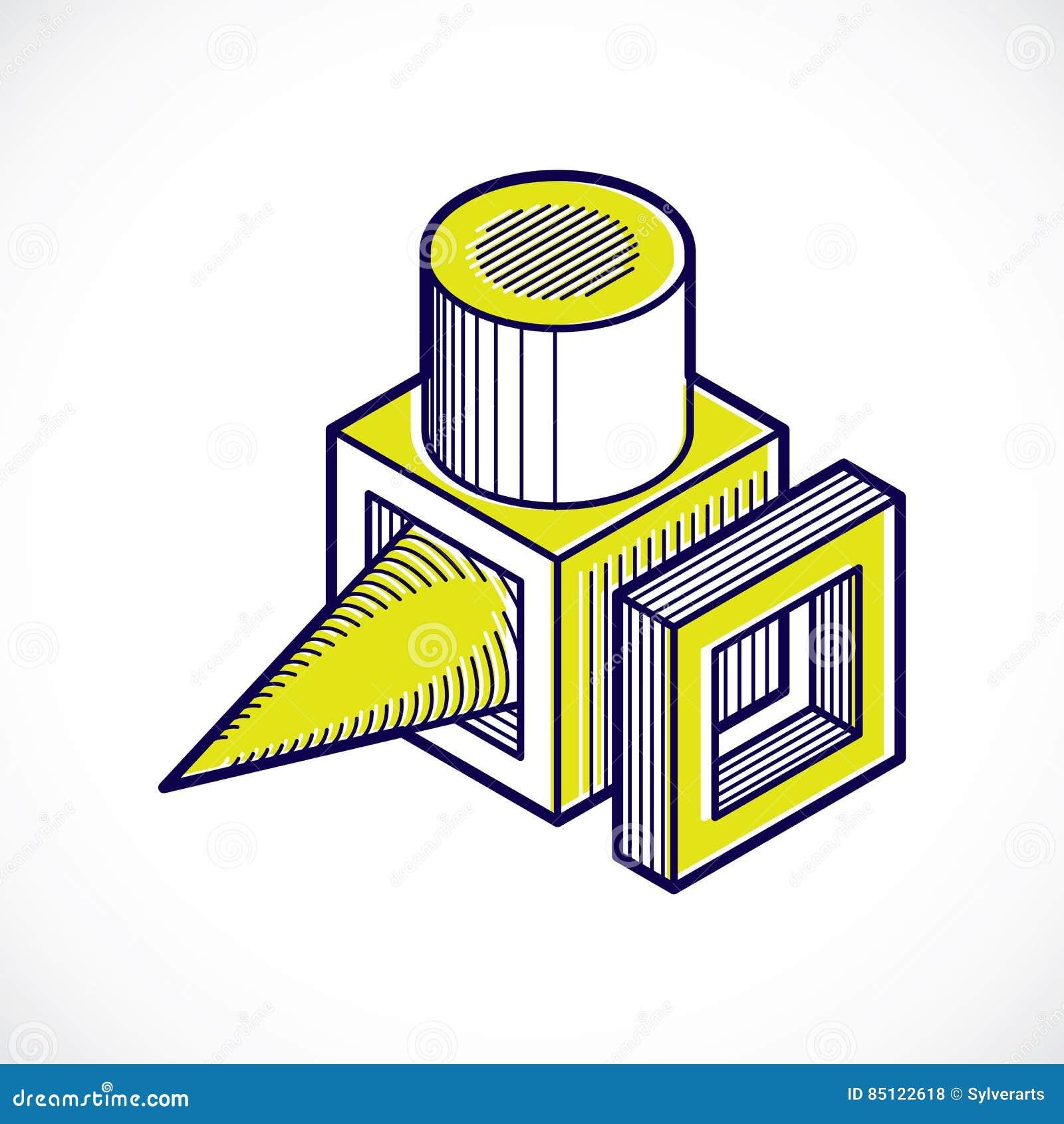 Dirigez 3d La Forme Geometrique Abstraite Chiffre Polygonal