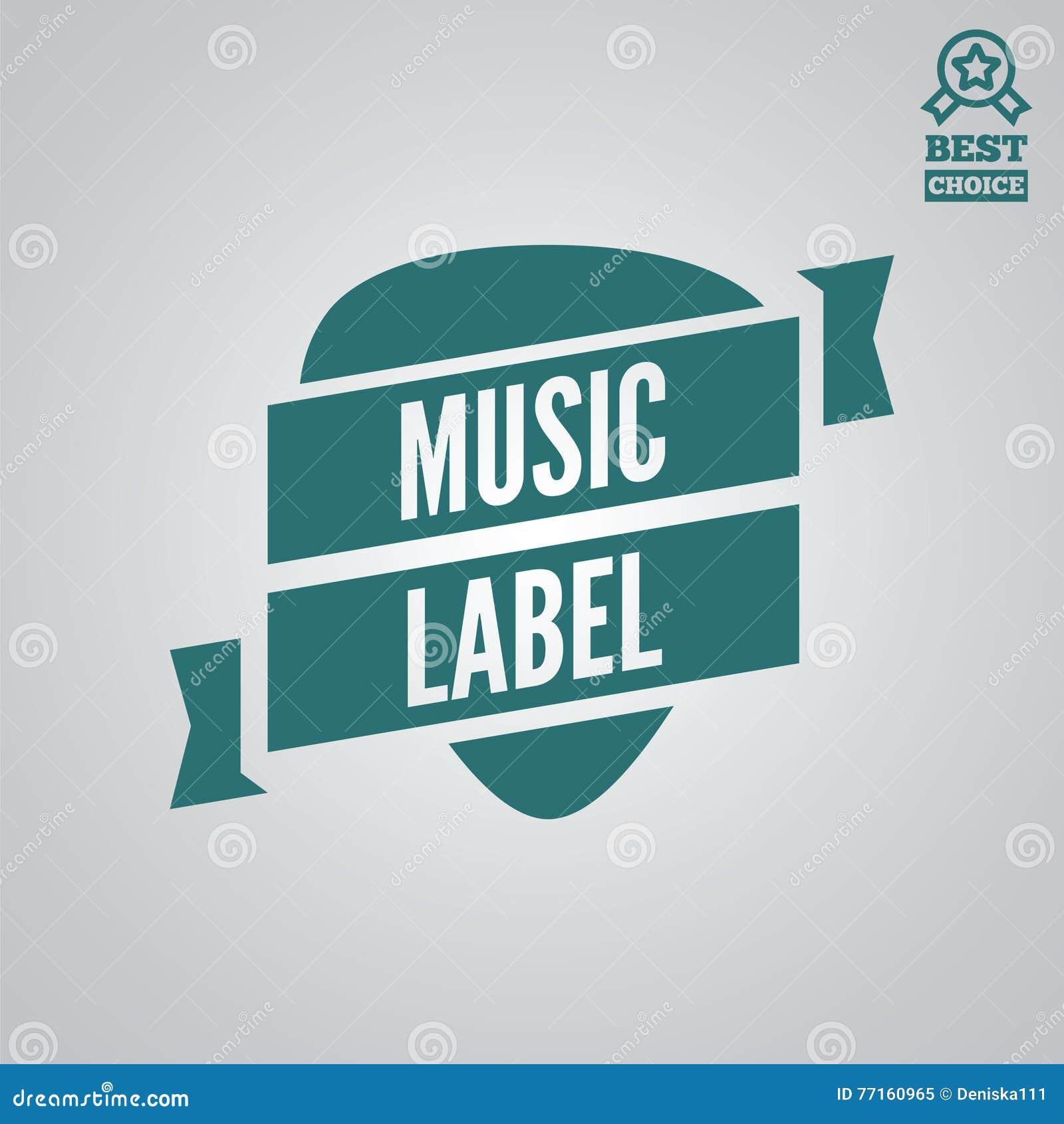 Dirigez l élément, le label, l insigne et la silhouette de logotype pour la boutique de musique
