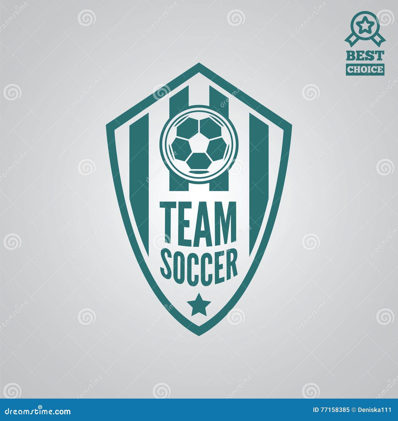 Dirigez l élément, le label, l insigne et la silhouette de logotype pour le football ou le football