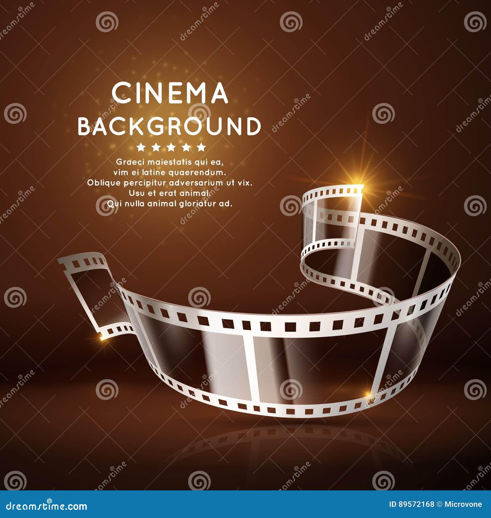 dirigez l 39 affiche de film avec le petit pain du film 35mm fond de cin ma de vintage. Black Bedroom Furniture Sets. Home Design Ideas