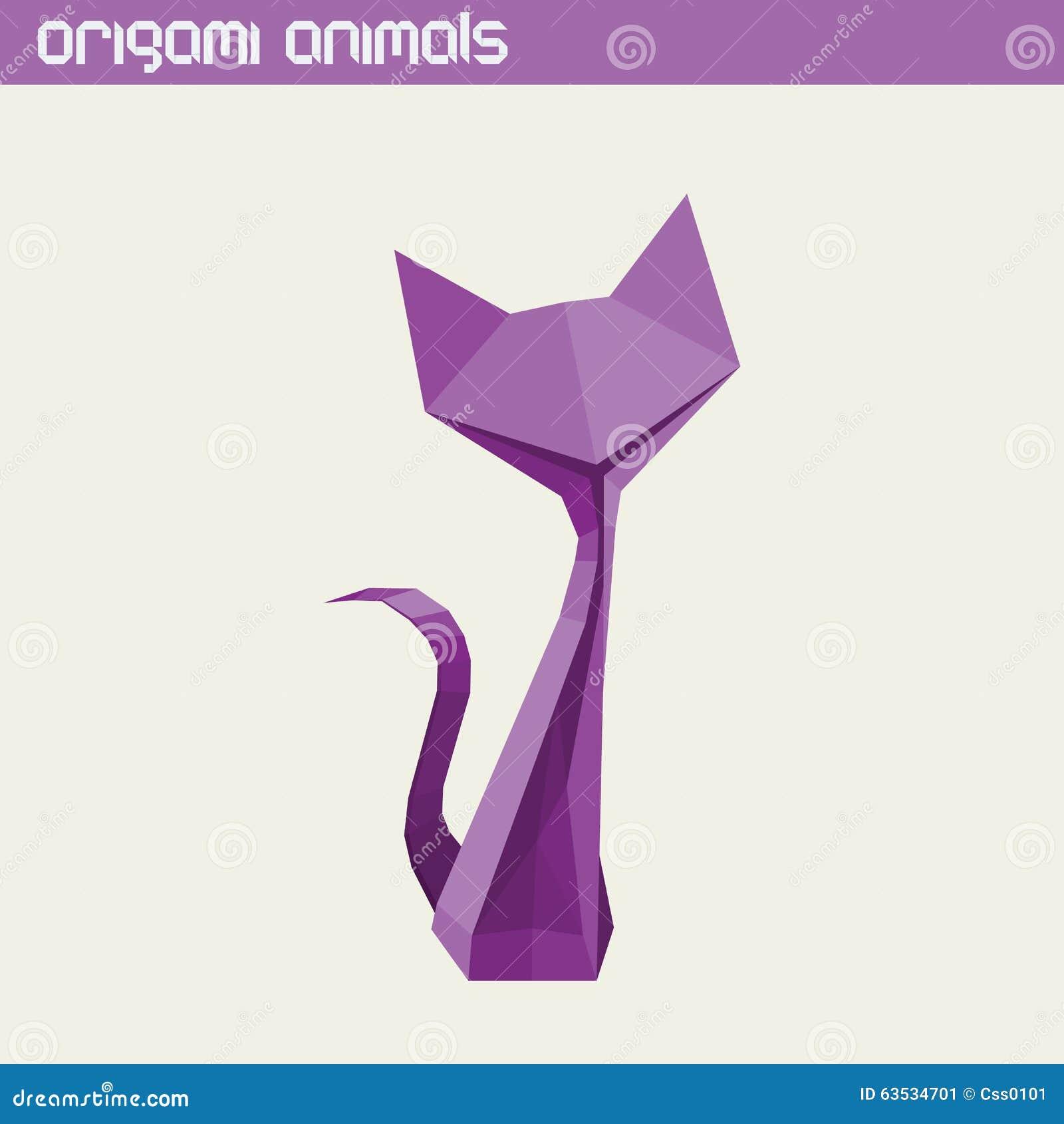 Dirigez l animal d origami Chat mignon