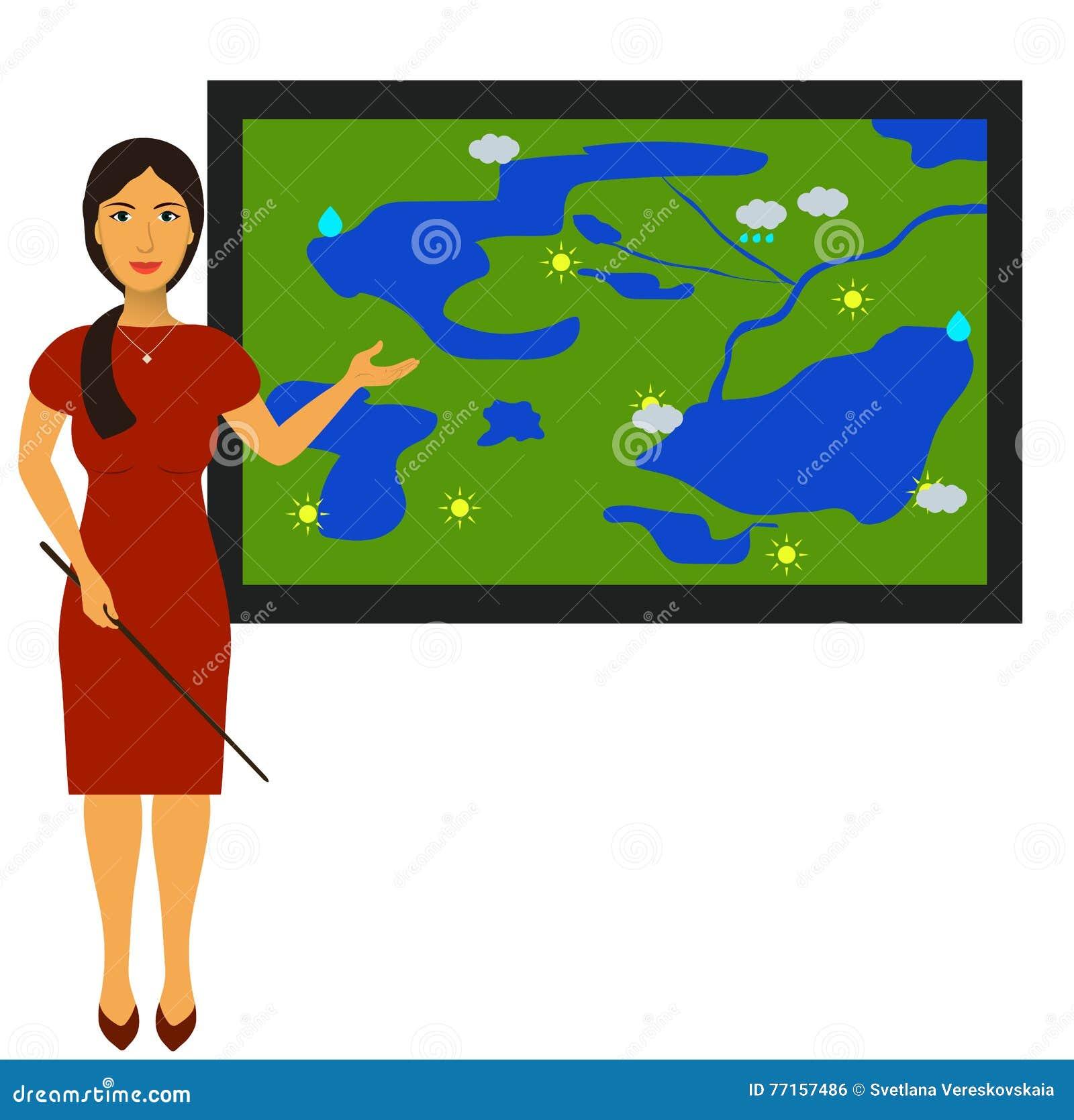Dirigez l illustration avec l image d un journaliste de temps de TV au travail