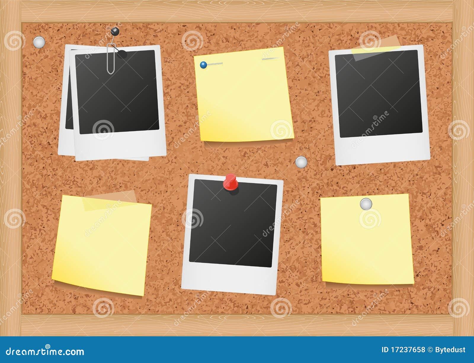 dirigez l 39 illustration d 39 un tableau d 39 affichage de li ge avec illustration de vecteur. Black Bedroom Furniture Sets. Home Design Ideas
