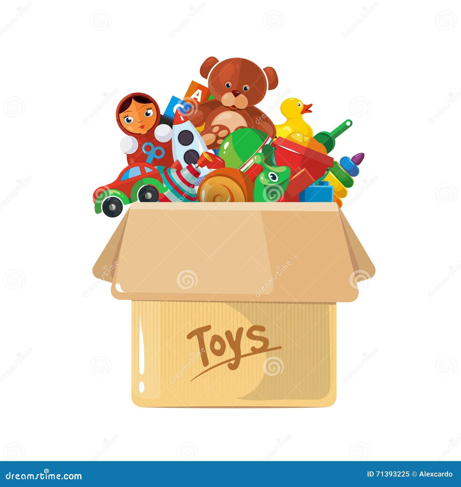 dirigez l 39 illustration de la bo te en carton pour des jouets d 39 enfants illustration de vecteur. Black Bedroom Furniture Sets. Home Design Ideas