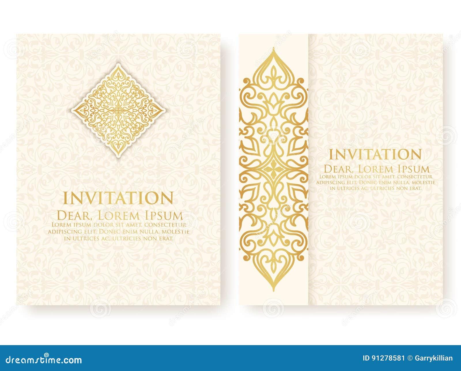 Dirigez L Invitation Cartes Avec Les Elements Ethniques D Arabesque Conception De Style