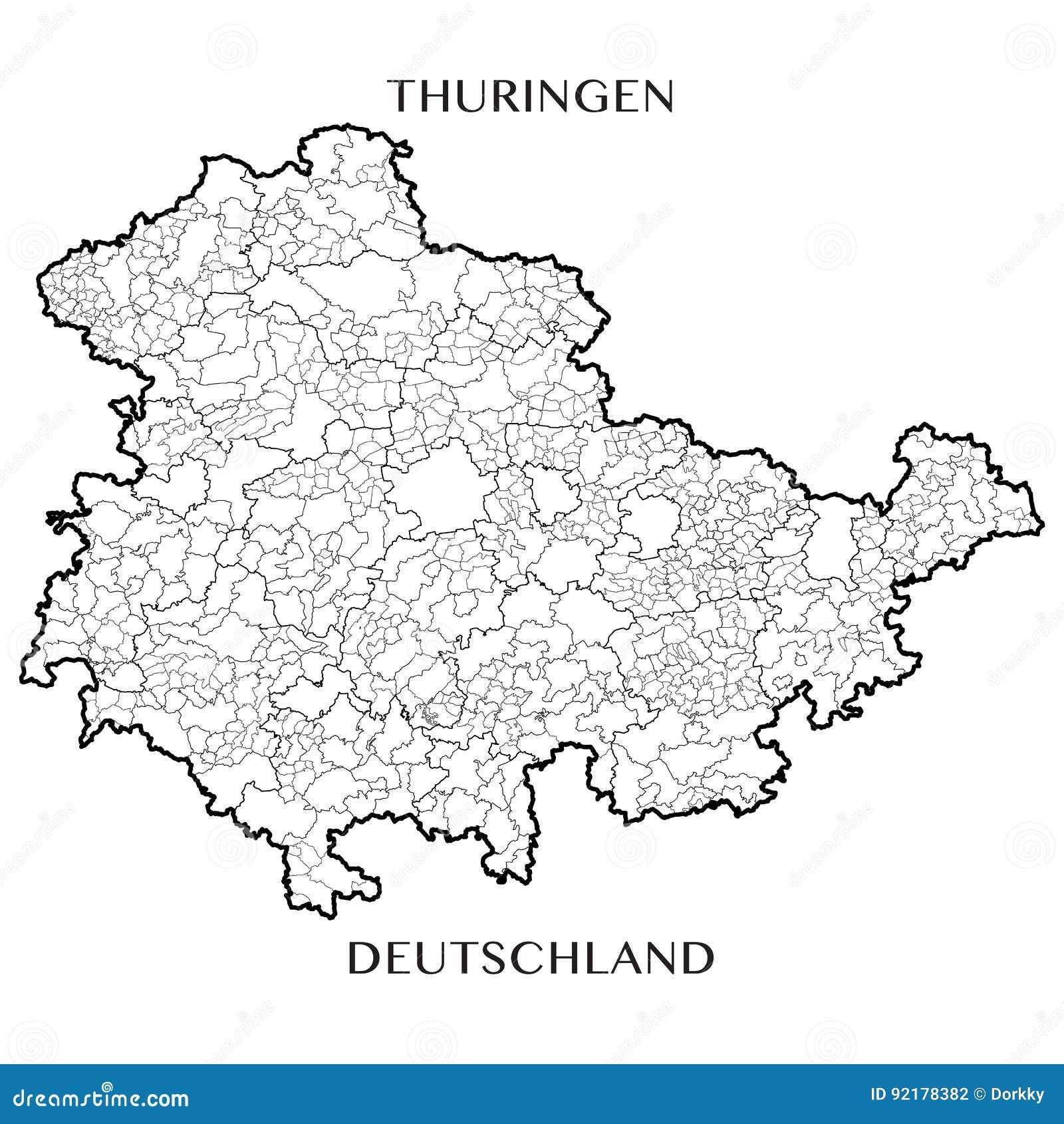 Carte Allemagne Thuringe.Dirigez La Carte De L Etat Gratuit Federal De Thuringe Allemagne