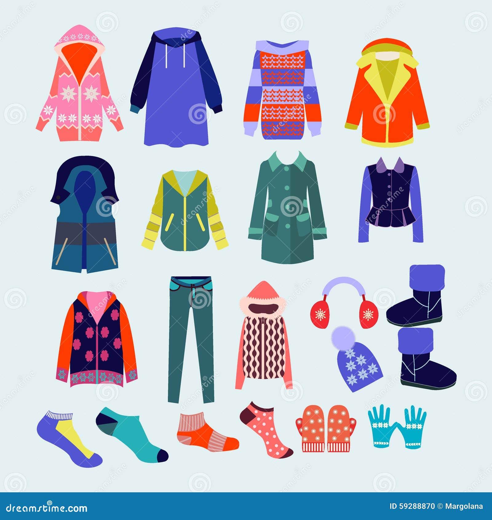 Dirigez la collection de v tements d 39 hiver et d 39 accessoires illustr - Les vetements d hiver ...