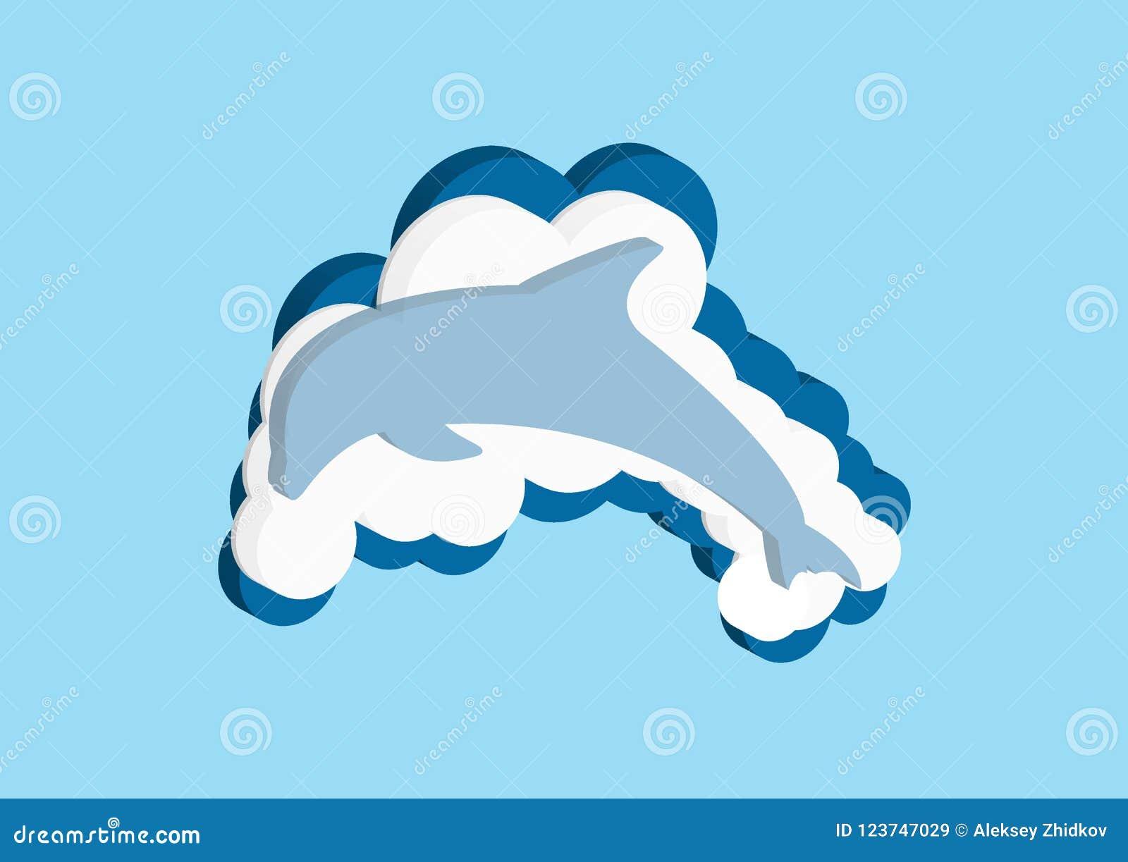 Dirigez la couleur bleue et blanche de nuage d icônes sur un fond bleu Le ciel est une collection dense d illust