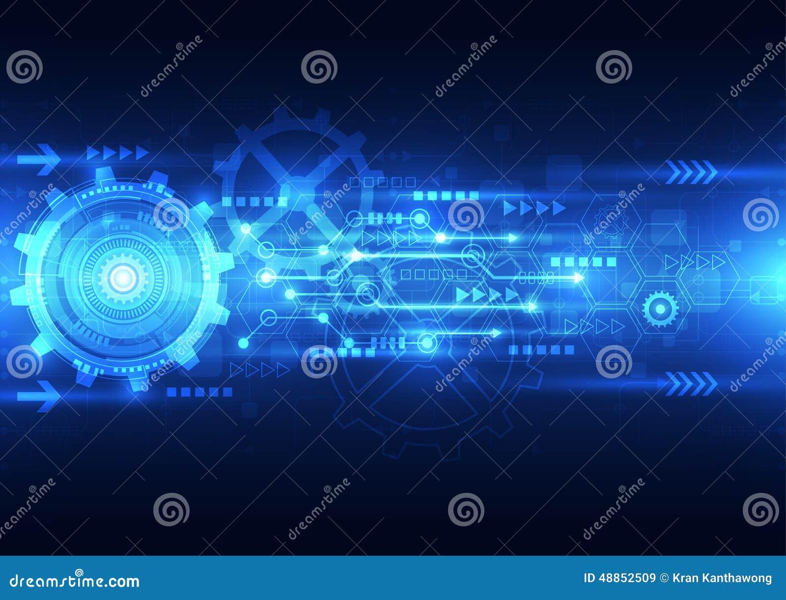 Dirigez la future technologie d ingénierie abstraite, fond électrique de télécom