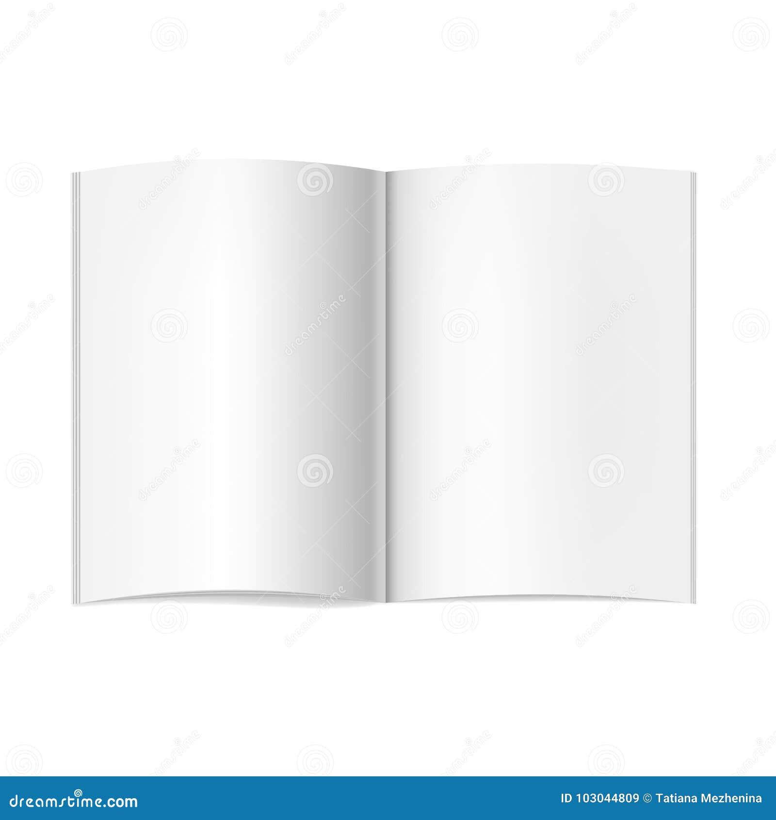 Dirigez La Maquette Ouverte Realiste De Livre De Journal Ou