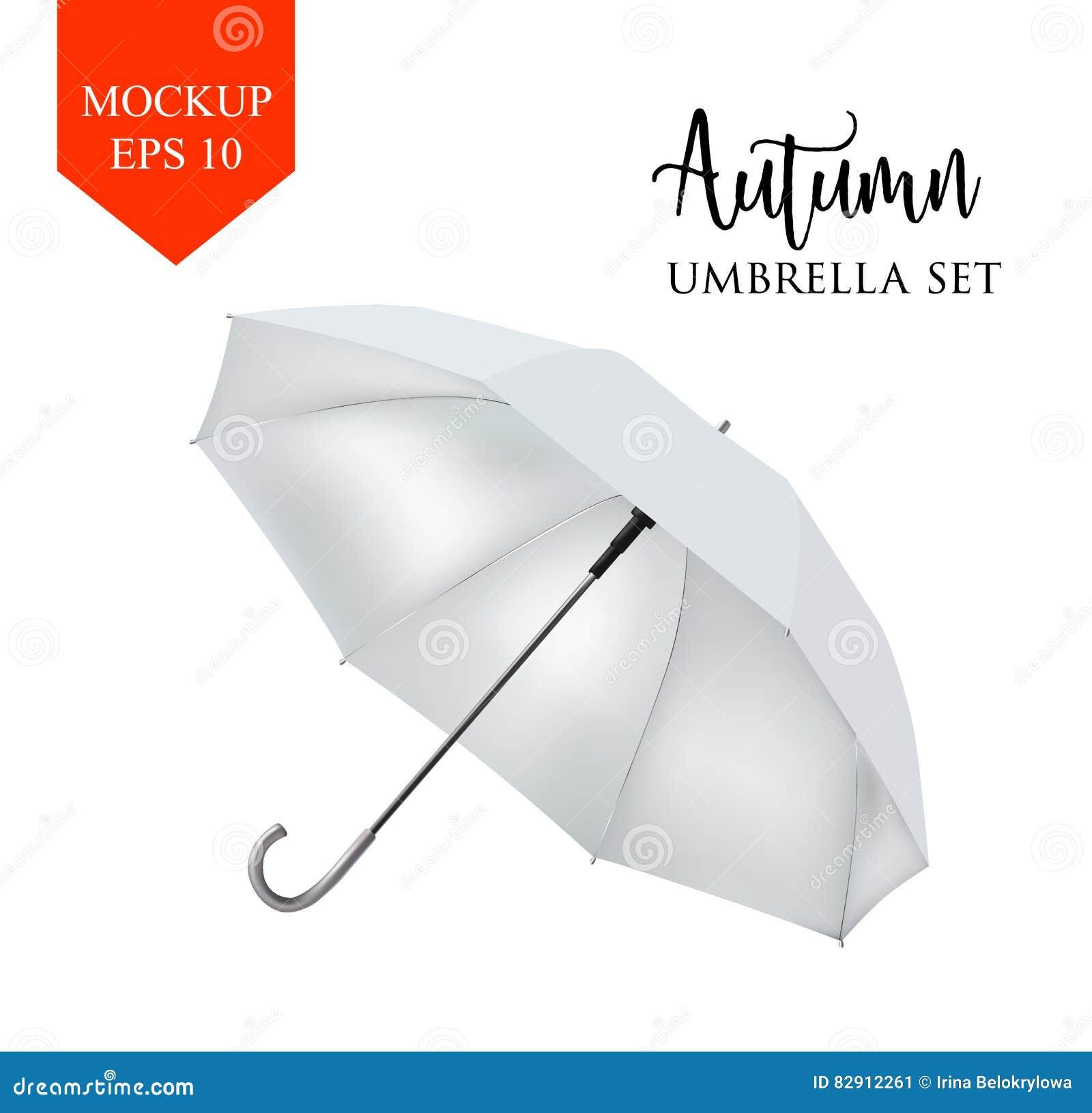 meilleure sélection 35521 60a17 Dirigez La Vue De Côté De Parapluie Rond Blanc Classique De ...