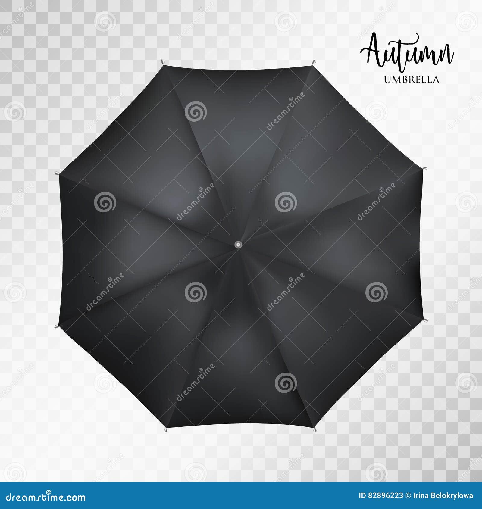 design de qualité 687b6 59632 Dirigez La Vue Supérieure De Parapluie Rond Noir Classique ...