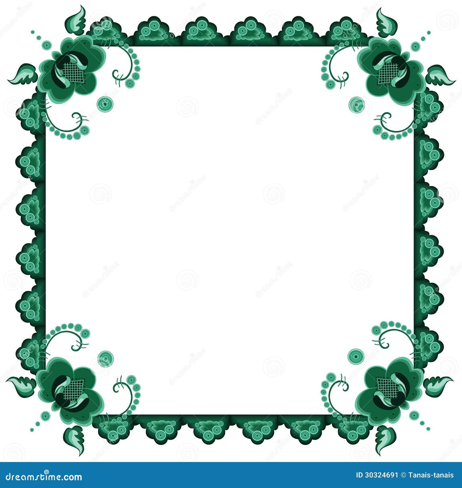 Vue Avec Les Fleurs Stylisées Illustration De Vecteur
