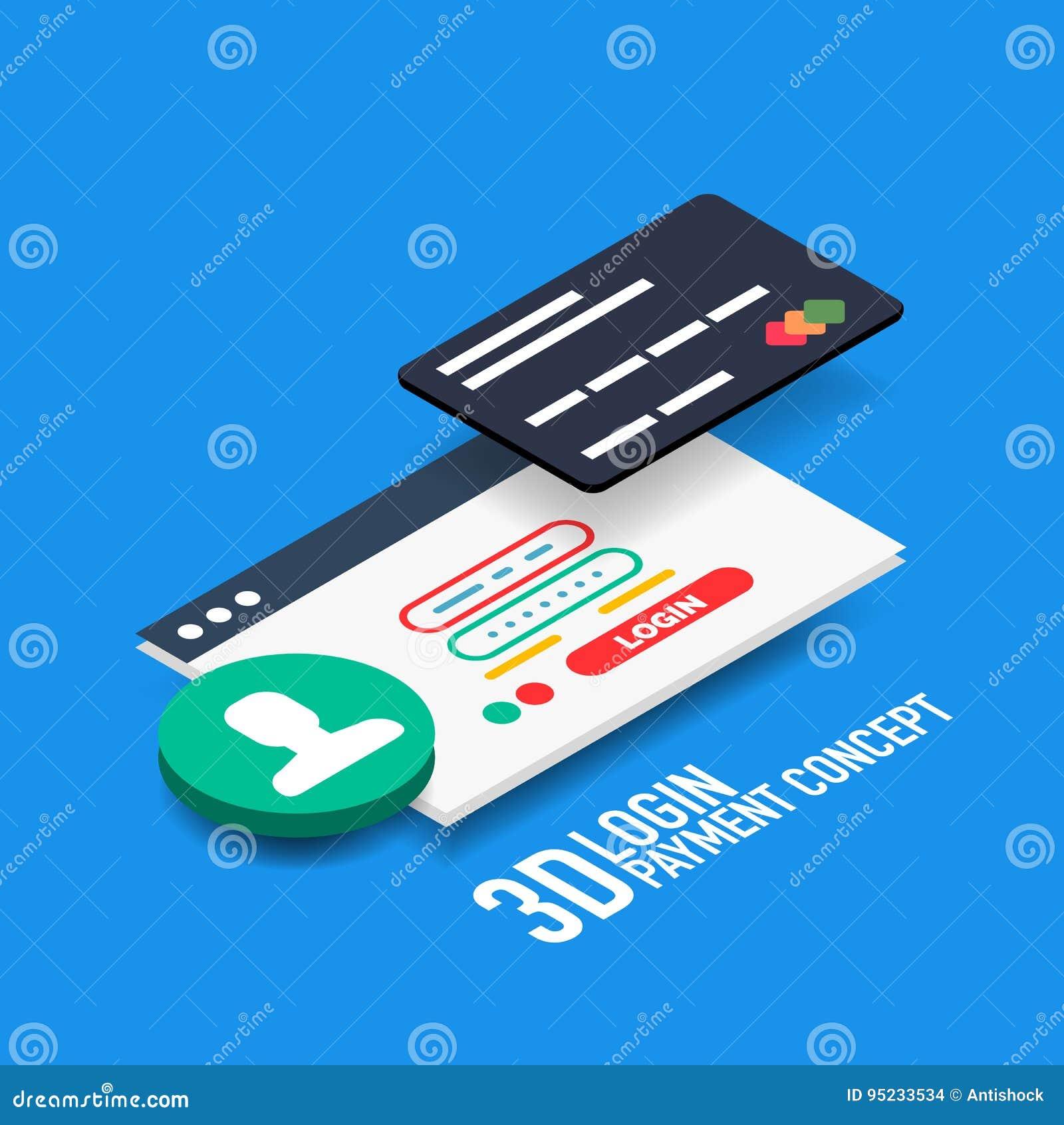 Dirigez le concept de paiement d Internet d username et de mot de passe de login
