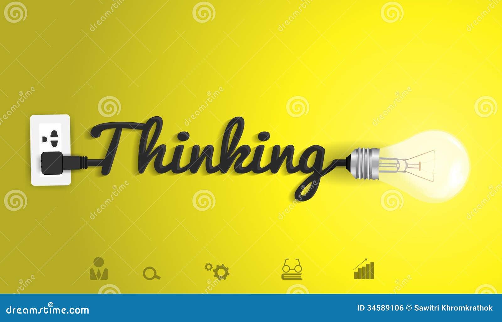 Dirigez le concept de pensée avec l ampoule créative i