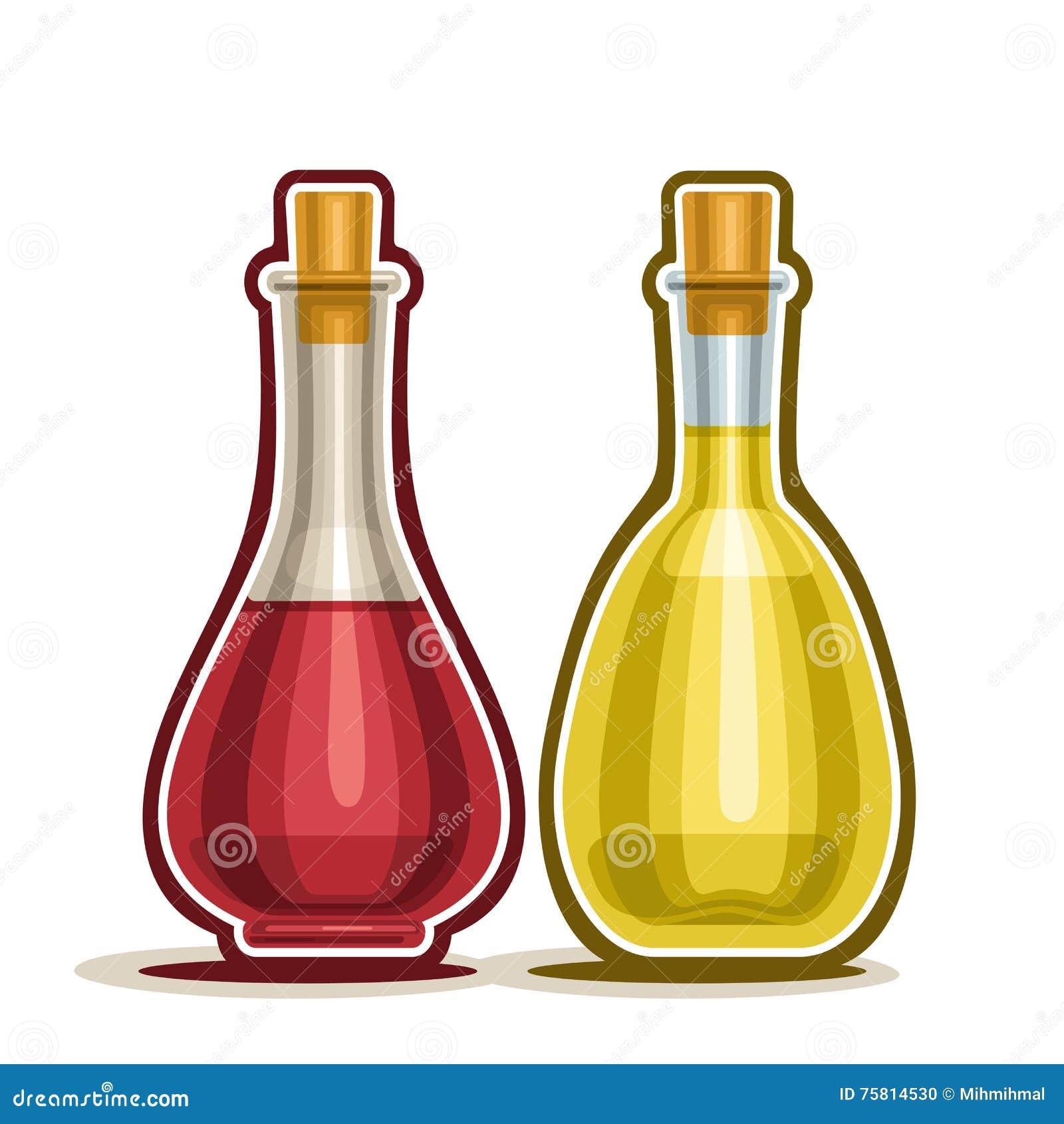 dirigez le d canteur de logo avec le vinaigre de vin rouge et blanc illustration de vecteur. Black Bedroom Furniture Sets. Home Design Ideas