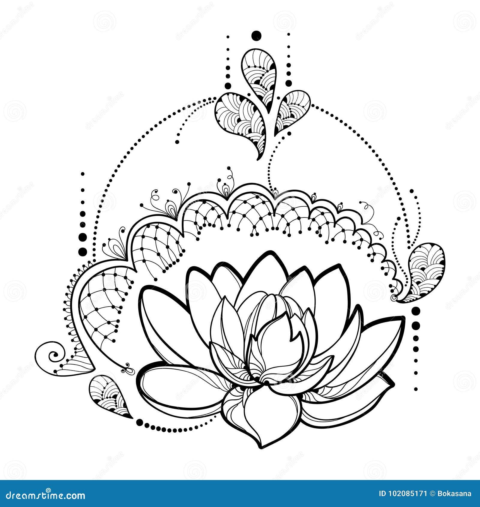 Dirigez Le Dessin Avec La Fleur De Lotus D Ensemble La